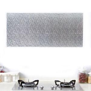 aluminiumfolie selbstklebende wasserdichte tapete f r k che backsplash ebay. Black Bedroom Furniture Sets. Home Design Ideas