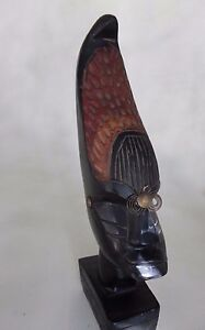 African-Wooden-Head-Figurine-Tribal-Statue-Hand-Carved-Solid-Wood