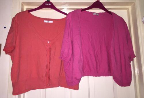 Dark Bolero Pink Cardigan Bundle Peach Lovely 20 Size Tu ZIx6wd6