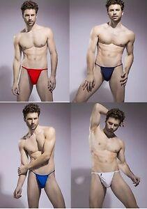 Sexy-Men-Lingerie-G-String-T-Back-Underwear-Thong-UK-Seller