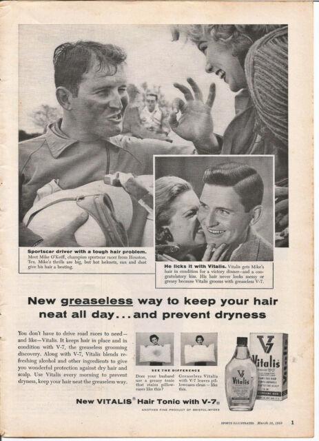 vitalis hair tonic vintage vintage 1958 vitalis hair tonic original magazine print ad