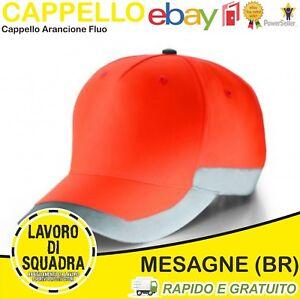 Caricamento dell immagine in corso Cappello-berretto-cappellino -alta-visibilita-039-lavoro-arancio- 4a06196cc145