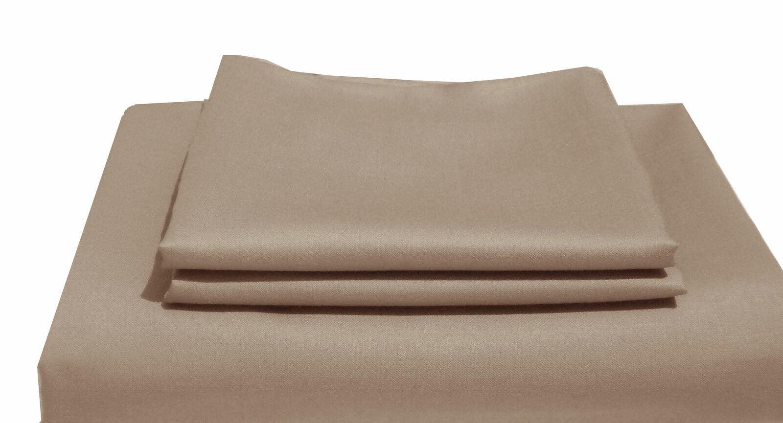 1000TC Egyptian Cotton WATERBED SHEET SET Sateen Solid Mushroom