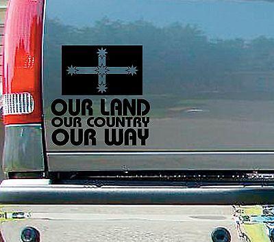 Our Land Country Decal Sticker 4x4 Ute Caravan Car Aussie PATRIOT Australia
