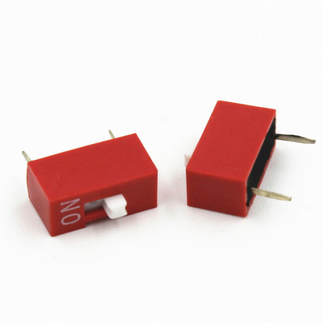 10* Red 2.54mm Pitch 1-Bit 1-Positions Ways Slide Type DIP Switch