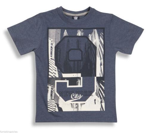 Nouveau cargo enfants garçons enfants coton devant imprimé t shirt 7-13 ans