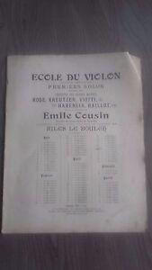 Scuola Del Violino Rode / Kreutzer/Viotti E.Cuscino Spartito H. Lee 1925 Be