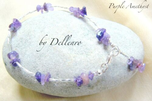 ✫AMETHYST✫ PURPLE HANDCRAFTED BEADED GEMSTONE ANKLET ANKLE CHAIN ANKLE BRACELET
