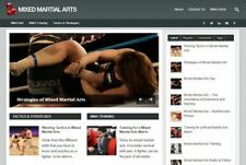 Mixed Martial Arts Established Profitable Turnkey Wordpress Website For Sale
