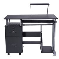 Pc Computer Desk Laptop Table Work Station Printer Shelf Office Home Furniture