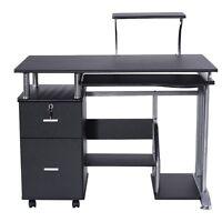 Pc Computer Desk Laptop Table Work Station Printer Shelf Office Home Furniture