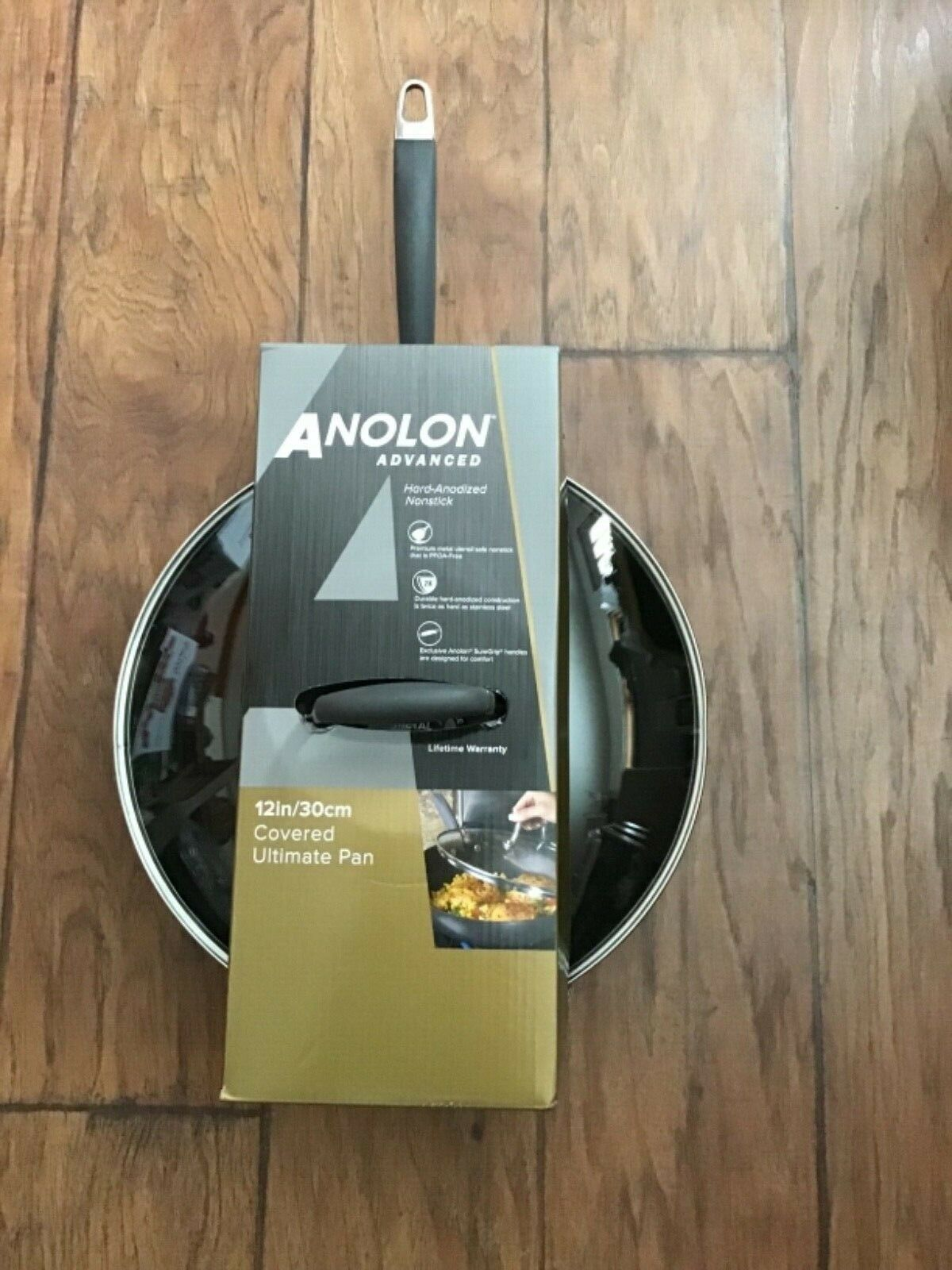 "NEW Anolon Advanced 12"" Covered Ultimate Pan"