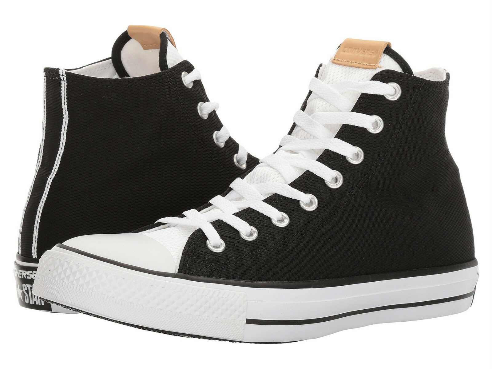 Converse Chuck Taylor All Star Colorblock Black/White Textile High Tops Men 11