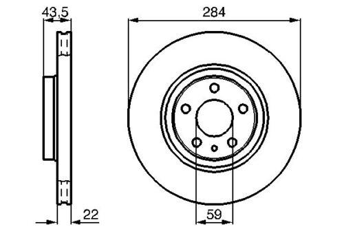 Qv Brembo Front Vented Brake Disc Alfa Romeo 164 87-98 3.0 2.0 Turbo 3.0I.E