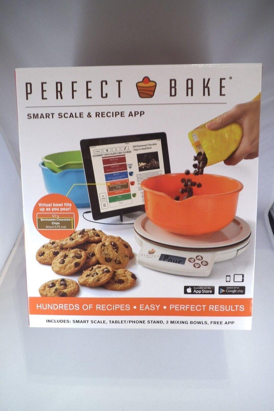 Nouveau Parfait BAKE SMART échelle  Bols  Stand + App + Perfect Drink & Mélange Apps