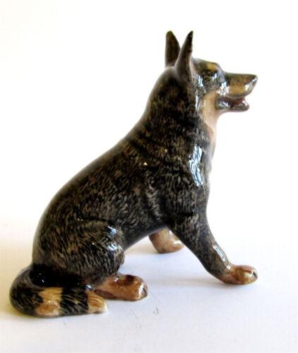 Australian Cattle Dog Set//2 Miniature Porcelain Figurine Approx 4.5cm High