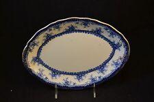 "John Maddock England Hamilton Pattern Flow Blue Oval 10 1/8"" Platter"