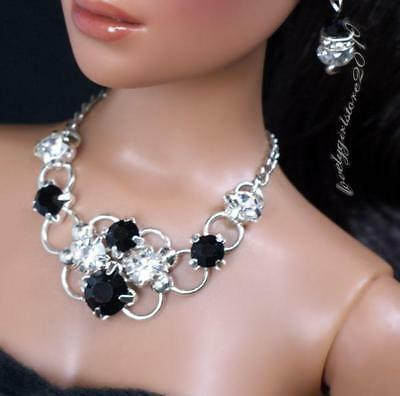 """Rhinestone Necklace and Earring Jewelry Set fits 16/"""" Tonner dolls 066B"""