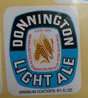 VINTAGE BRITISH BEER LABEL - DONNINGTON LIGHT ALE 9 2/3 FL OZ