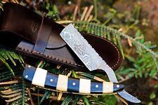 "DKC-539 BUMBLE BEE Barber Razor Damascus Steel 6"" Long 3"" Blade 5 oz by dkc kniv"
