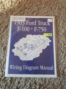 1963 Ford Truck F100 - F750 Wiring Diagram Manual 63 ...