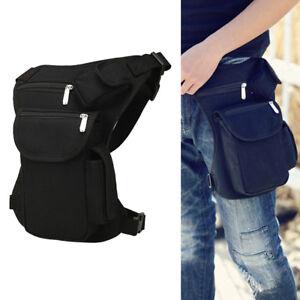 Men-Canvas-Drop-Leg-Bag-Motorcycle-Rider-Tactical-Military-Belt-Waist-Fanny-Pack