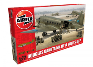 Airfix A09008 Douglas Dakota MkIII with Willys Jeep 1 72 Scale Kit
