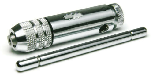 """Ratcheting T Handle Tap Wrench Premium #0 to 1//4/"""" and 1//4/"""" to 1//2/"""" Varieties"""