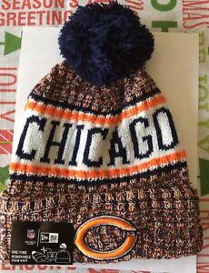 CHICAGO BEARS 2018 NFL NEW ERA OFFICIAL ON FIELD SIDELINE BEANIE ... 13577b446