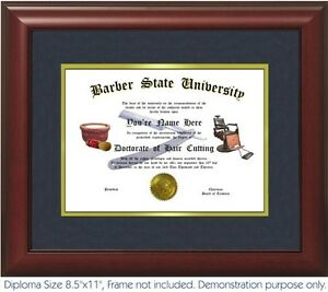 barber diploma personalized your date best on  image is loading barber diploma personalized your date best