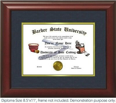 Barber Chair Best on Personalized with your Name//Date Barber Diploma