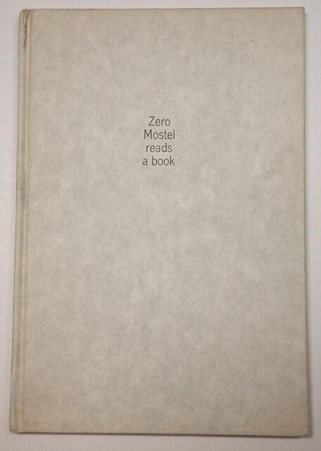 Robert Frank Zero Mostel Reads a Book Scarce 1963 1st Edition HC NY Times Photo