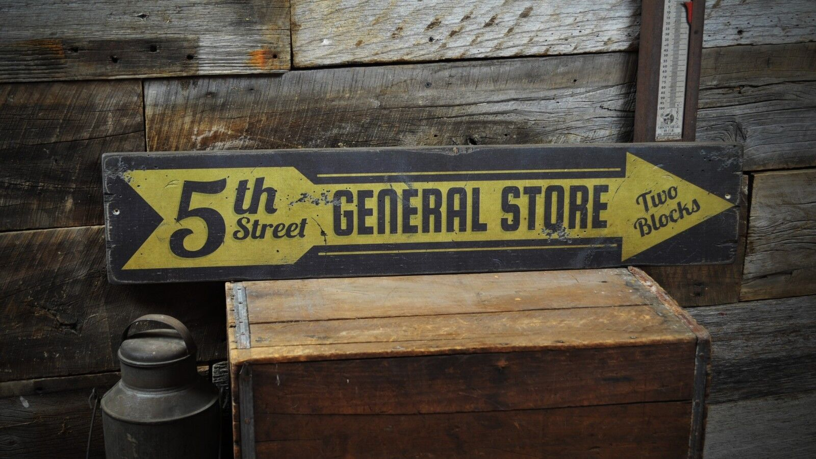 5th Street General Store - Rustic Hand Made Vintage Wooden Sign
