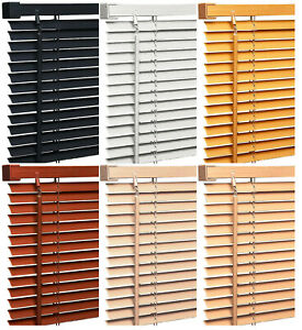 Pvc-Wood-Wooden-Grain-Effect-Venetian-Window-Blind-Blinds-Home-Office-Easy-Fit