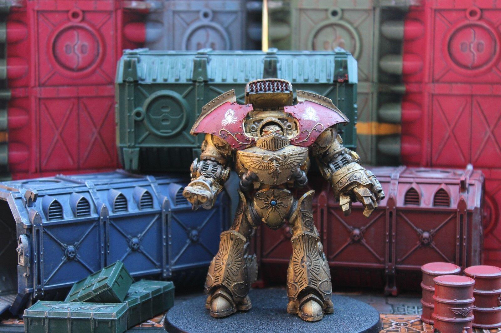 Warhammer forgeworld Legio Custodes Telemon dreadnought + 2 weapon arms