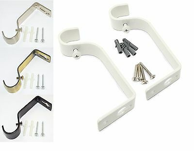 De Goedkoopste Prijs 35 Mm Metal Heavy Duty Curtain Rod Pole Wall Bracket Drapery Holder Fixing Screw Het Hele Systeem Versterken En Versterken