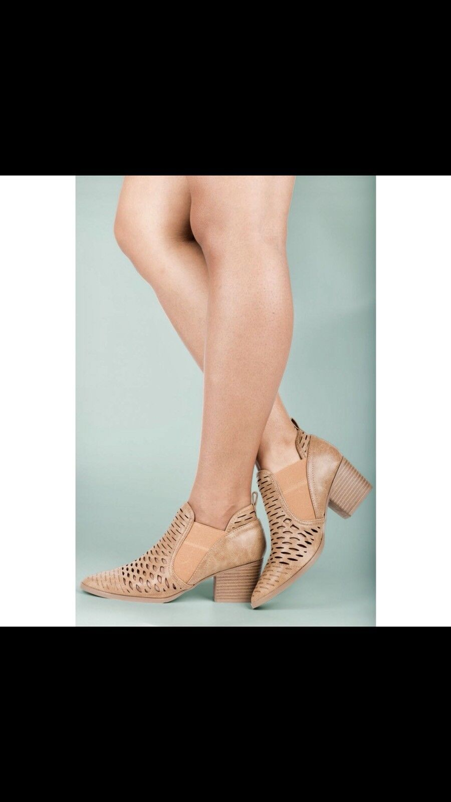 Ladies pointed toe low chunky heels booties. Sizes 5.5,6,6.5,7,7.5,8.5,9,10