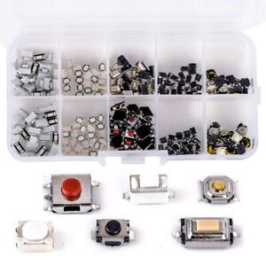 10-Types-250pcs-Mixed-Tactile-Push-Botton-Switch-Car-Key-Remote-Microswitch-Kit