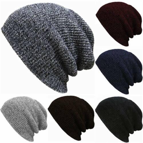 Men/&Women Unisex Knit Baggy Beanie Winter Hat Ski Slouchy Chic Knitted Cap Skull
