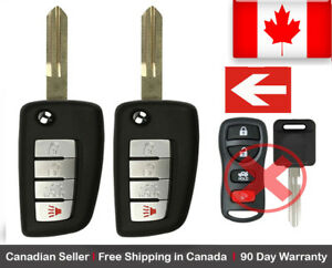 2x New Replacement Keyless Entry Remote Control Key Fob For Nissan /& Infiniti