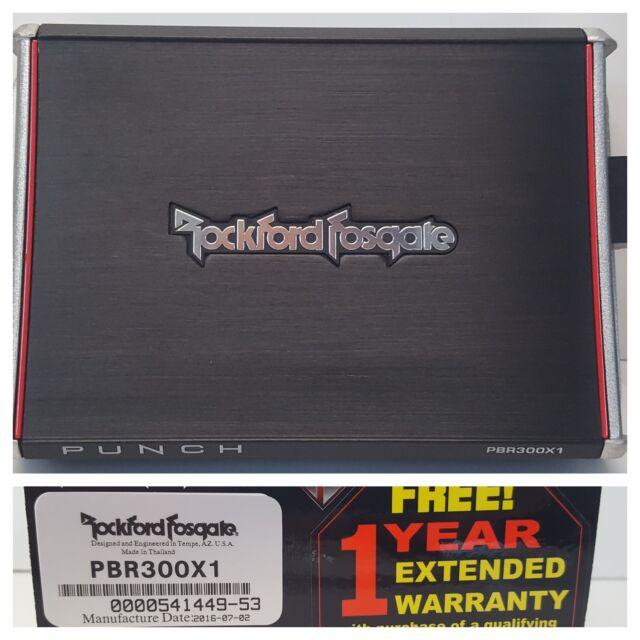 Rockford Fosgate Punch PBR300X1 Car 300W RMS Monoblock Amplifier OPEN-BOX#