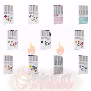 SELECT SET AUTHORIZED COPIC DEALER Copic Sketch Markers 6pc Pre-Packaged Set