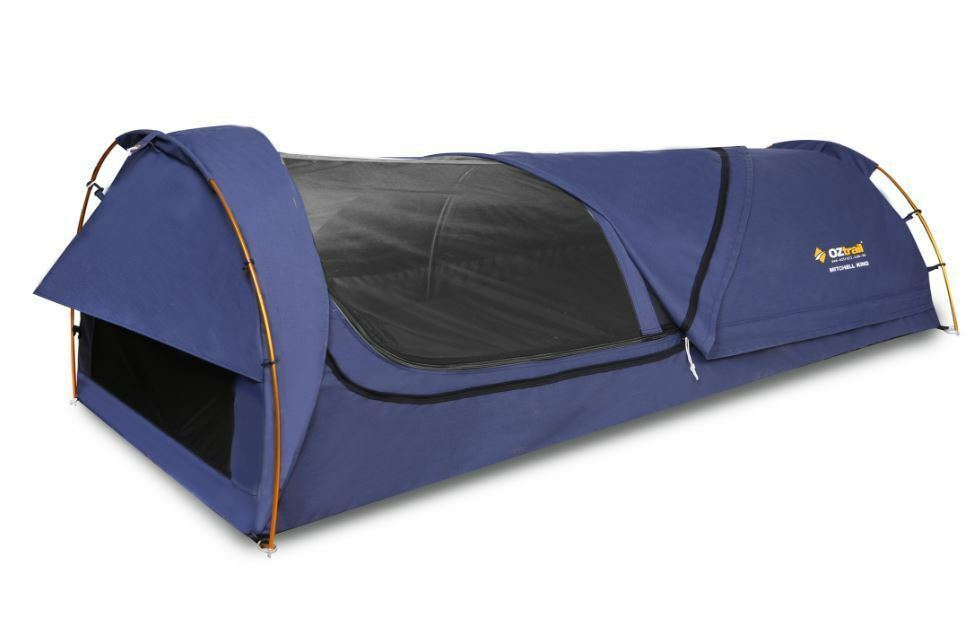 NEW OZTRAIL MITCHELL KING  SINGLE SWAG NO-SEE-UM MESH WATERPROOF CAMPING NAVY  various sizes