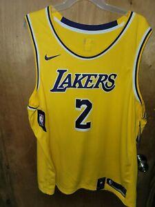 Nike LA Lakers Lonzo Ball NBA Swingman Yellow Jersey Men's Size 3XL (AA7099-728)