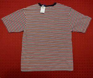 11b428a936 POLO- Ralph Lauren, Red, Navy, White Striped T-Shirt, Boy's Sz. M | eBay
