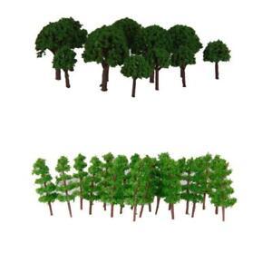 150x Mini Green Model Bäume Für Layout Z Maßstab Für Park Garten