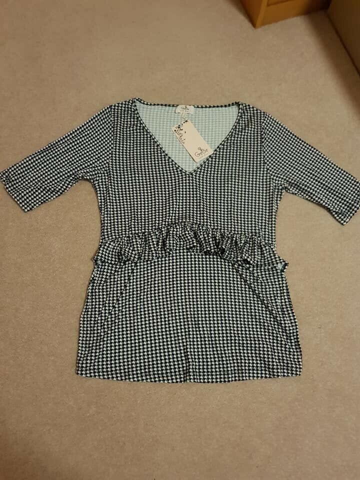 BNWT GeBe Women's Samos Maternity T Shirt Size 10 RRP