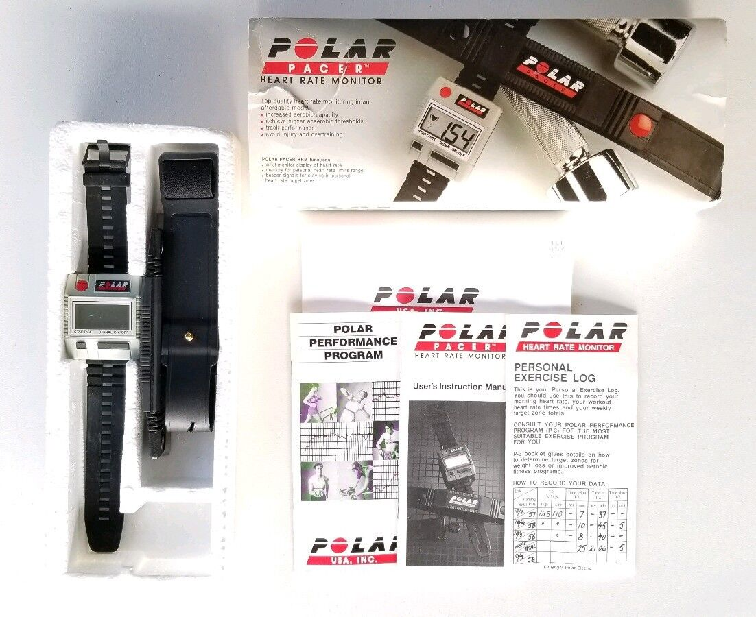 Vintage Polar Pacer Heart Rate Monitor Model 900810