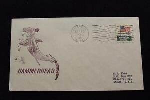 Navale-Cover-1971-Nave-Cancel-SHIP-039-S-Marchio-Uss-Hammerhead-SSN-663-3556