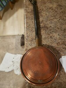 VINTAGE-COPPER-BRASS-BED-WARMER-39-inches-long-with-handle